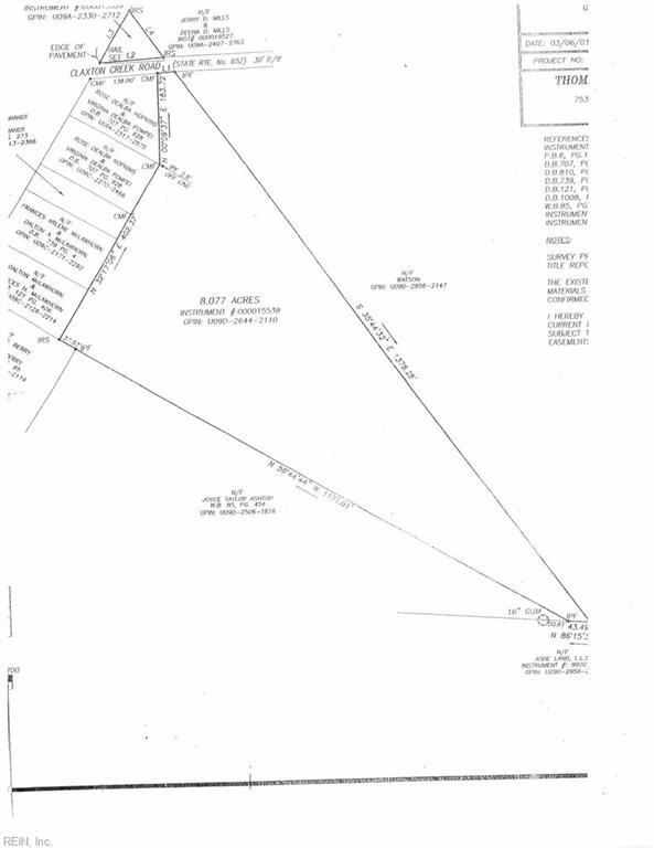 102 Claxton Creek Rd, Seaford, Virginia, 23696, Land for Sale