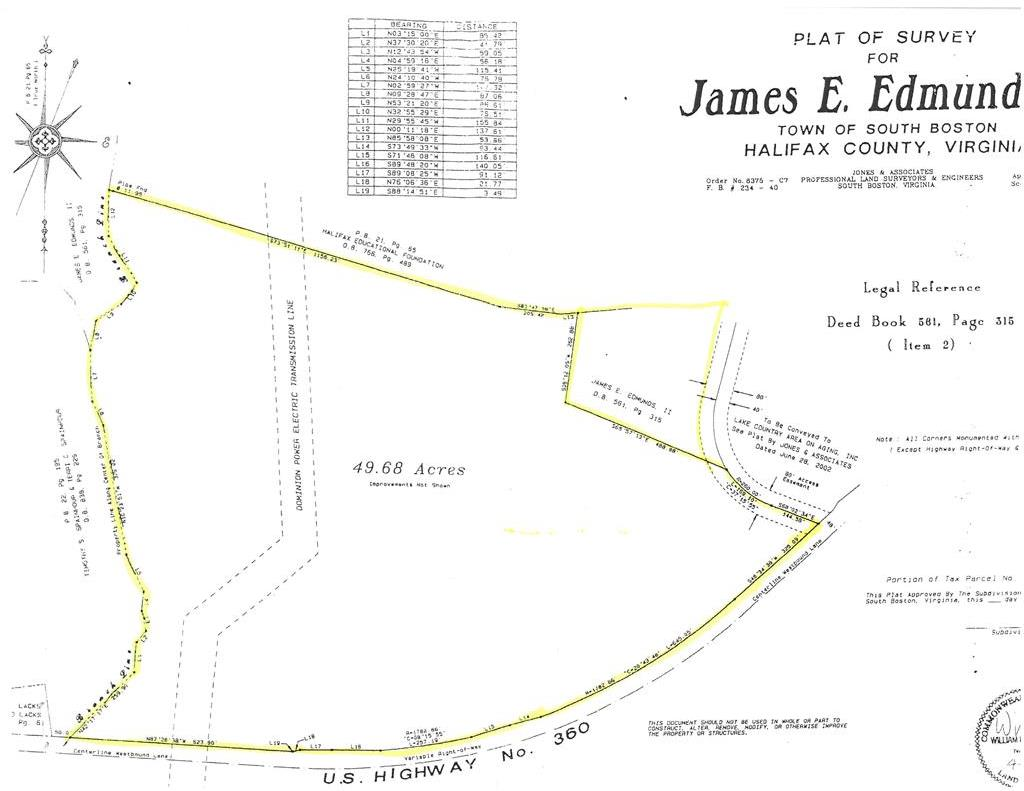Hwy 360 James D Hagood Highway, South Boston, VA, 24592